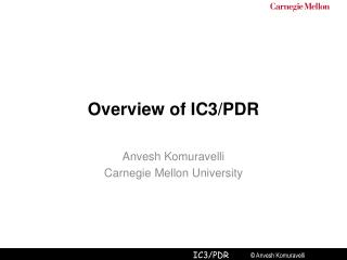 Overview of IC3/PDR
