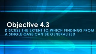 Objective 4.3