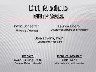 DTI Module MNTP 2011