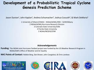 Development of a Probabilistic Tropical Cyclone Genesis Prediction Scheme