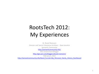 RootsTech  2012: My Experiences