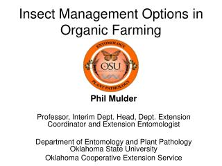 Insect Management Options in Organic Farming