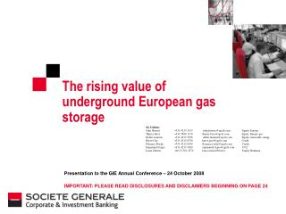 The rising value of underground European gas storage