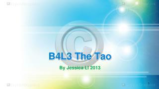 B4L3 The Tao