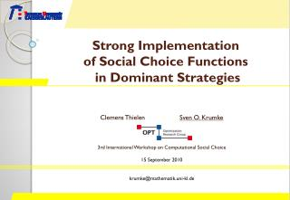 Strong Implementation  of Social Choice Functions  in Dominant Strategies