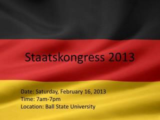 Staatskongress  2013