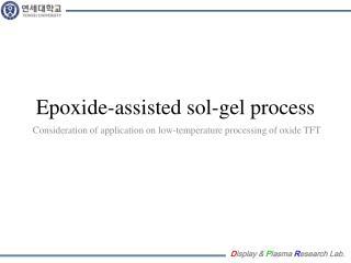 Epoxide -assisted sol-gel process