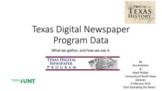 Texas Digital Newspaper Program Data