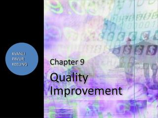 Chapter  9 Quality Improvement