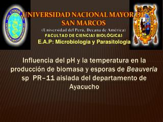 E.A.P: Microbiologia y Parasitologia