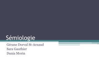 Sémiologie