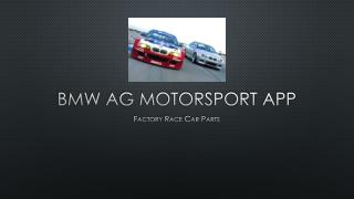 BMW AG MOTORSPORT APP