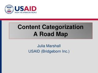 Content Categorization A Road Map