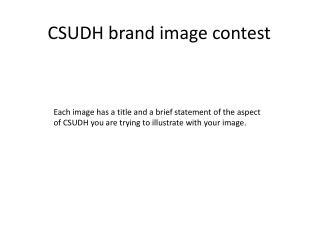 CSUDH brand image contest