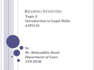 Reading Statutes