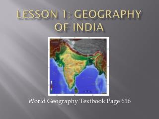 Lesson 1: Geography of India