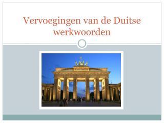 Vervoegingen  van de  Duitse werkwoorden