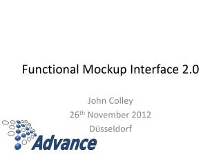 Functional Mockup Interface 2.0