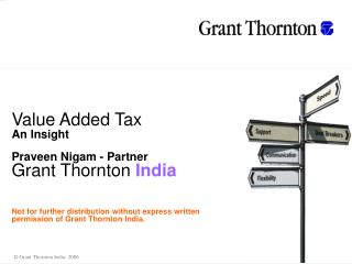 Value Added Tax An Insight Praveen Nigam - Partne