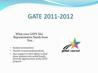 GATE  2011-2012