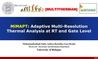 MiMAPT : Adaptive Multi-Resolution Thermal Analysis at RT and Gate Level