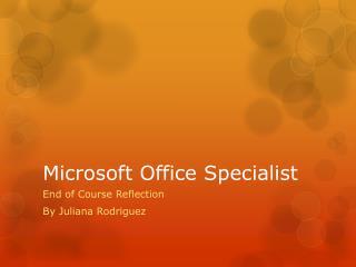 Microsoft Office Specialist