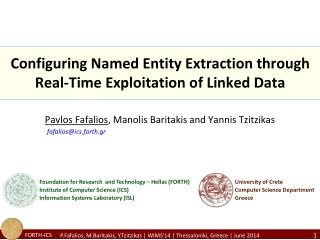 Configuring Named Entity Extraction through Real-Time Exploitation of Linked Data