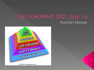 GEOGRAPHY 352: Day 16