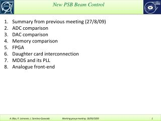 New PSB Beam Control