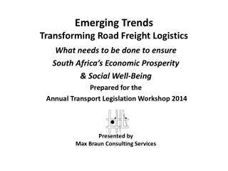 Emerging Trends Transforming Road Freight Logistics
