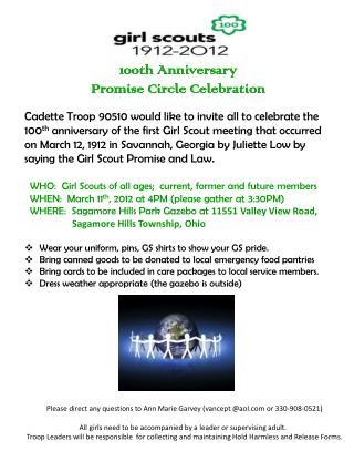 100th  Anniversary  Promise  Circle  Celebration