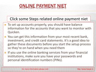 Do you know how to find online pyment niet