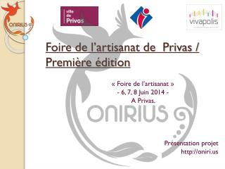 Foire de l'artisanat de  Privas /  Première édition