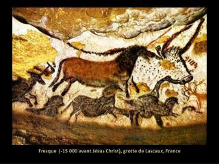 Fresque  (-15 000 avant Jésus Christ), grotte de Lascaux, France