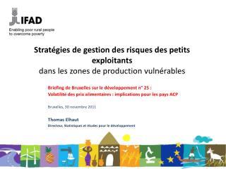 Stratégies de gestion des risques des petits exploitants dans les zones de production vulnérables