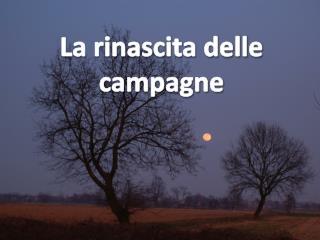 La rinascita delle campagne