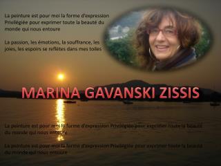 MARINA GAVANSKI ZISSIS