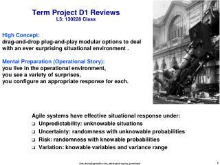 Term Project D1  Reviews L3:  130228 Class