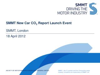 SMMT New Car CO 2  Report Launch Event
