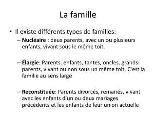 La famille