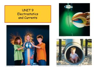 UNIT 9 Electrostatics  and Currents