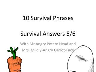 10 Survival Phrases Survival Answers  5/6