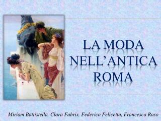 La moda nell'antica Roma