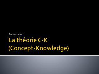 La théorie C-K  (Concept- Knowledge )