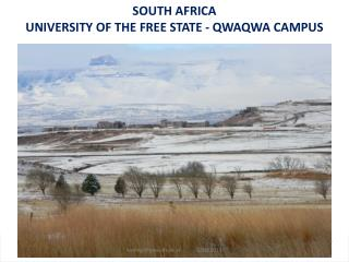 SOUTH AFRICA UNIVERSITY OF THE FREE STATE - QWAQWA CAMPUS