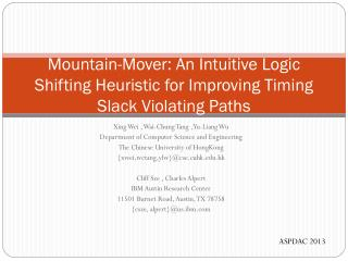 Mountain-Mover: An Intuitive Logic Shifting Heuristic for Improving Timing Slack Violating Paths