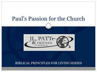 Paul's Passion for the Church
