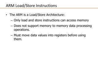 ARM Load/Store Instructions