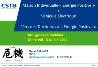 Maison Individuelle «Energie Positive» + Véhicule Electrique =