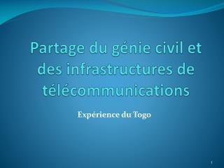 Partage du génie civil et des infrastructures de télécommunications